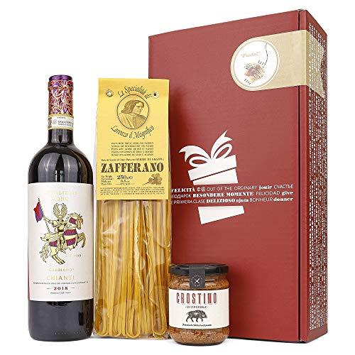 Genießer-Set Präsent-Korb Toskana (Geschenkset mit italienischen Spezialiäten und Wein)