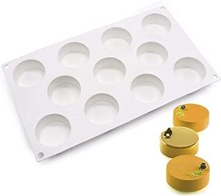 enduo Moldes de Pastel de Silicona 3D para moldes de Pastel de Silicona, Molde de 11 Agujeros