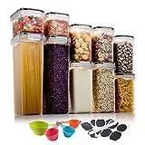 Aitsite 10Pcs Recipientes para Cereales Tarro de Almacenamiento Plastico Botes...