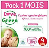 Love & Green Couches Taille 4 (7-14 Kg) - Pack 1...