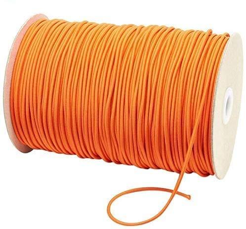 Elastische band, elastische band, 11 kleuren, breedte 3 mm, elastisch touw, eenvoudig te knippen en te rekken, originele lengte zonder vervorming. 10m Oranje