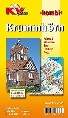 Krummhörn & Greetsiel: 19 Ortspläne der Gemeinde Krummhörn in 1:7.500 und Freitzeitkarte 1:25.000 inkl. Radrouten und Wanderwegen (KVplan Ostfriesland-Region)