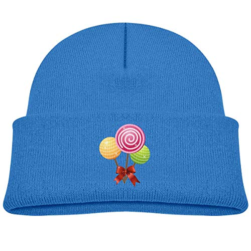 MinnSok Chapeau Chaud d'hiver de Fille de garçon de bébé, Chapeau de Bonneterie d'enfants, Three Candy Winter Hat Knitted Skull Cap for Boys Girls Blue