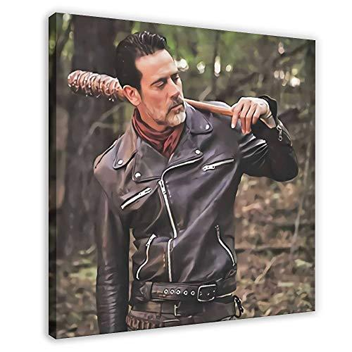 TV-Serie Walking Dead Negan Lederjacke Leinwand Poster Schlafzimmer Dekor Sport Landschaft Büro Zimmer Dekor Geschenk 70 × 70 cm Rahmen style1