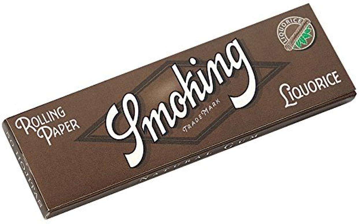 公園タイプライター慰め[smoking]スモーキング シングル リコリス ペーパー 50枚入り×10 手巻きタバコ 手巻き