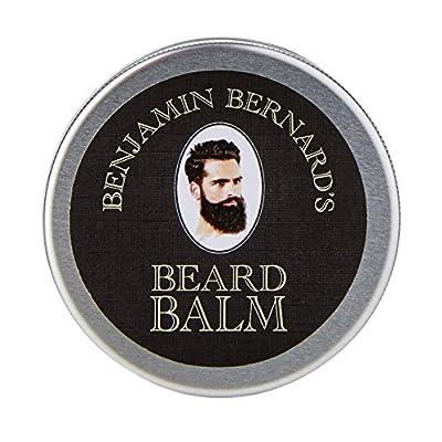 Beard Balm - Beard Wax by Benjamin Bernard - Encourage Healthy Beard Growth, Beard Softening and Grooming - Beard Pomade for Lasting Facial Hair Style - Lightly Scented Beard Care - 100ml
