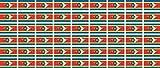 Mini Aufkleber Set - Pack glatt - 20x12mm - Sticker - Swasiland - Flagge - Banner - Standarte fürs Auto, Büro, zu Hause & die Schule - 54 Stück