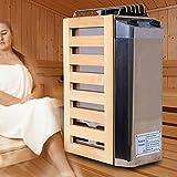 EFGSbed Elektrische Edelstahl Saunaofen, Sauna Heizgerät Mit Zeitsteuerungs Und Temperatursteuerungsschalter, Gute Wärmeleitfähigkeit Für Saunakabinen Bis...