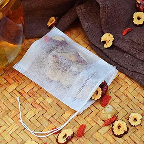 HUYANJUN HYJ-CHA, 100pcs / Lote Bolsas de té 5 x 7 cm Bolsas de té con perfumado vacío con la Cuerda Curación del Filtro de Sello para la Hierba Infusor de té Suelto Bolsas (Color : 100PCS)