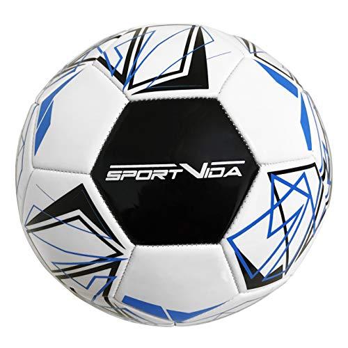 Fußball Ball Grösse 5. Fussbälle für Kinder und Erwachsene. Fussball Trainingszubehör. Universal fußball für Sport Training und Spiele. Freizeitbälle für Alles. (Blau)