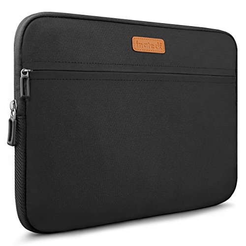 Inateck 13-13.3 Inch Laptop Case for Notebook/Chromebook/Tablet, Compatible with 13.3 Inch MacBook Air/MacBook Pro, Water-Resistant Laptop Sleeve - Black