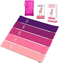 Sinrida Resistance Loop Exercise Bands, Fitness Loop Bands for Legs and Butt, Stretching, Strength Training, Physical Therapy,Pilates Yoga,Crossfit,Elastic Workout Bands