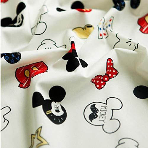Tela de algodón Disney de The Yard, 110 cm de ancho, diseño de Mickey