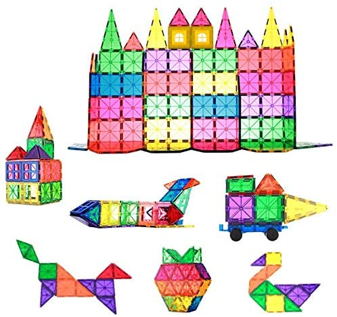 Magnetic Building Tiles 78pcs Colorful Bu Max 80% OFF Transparent 3D Bombing new work Magnet