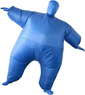 Sumo Wrestler Inflatable Fat Chub Suit Fancy Dress Costume Carnival Cosplay Party Inflatable Clothing Novelty Toys for Adu...