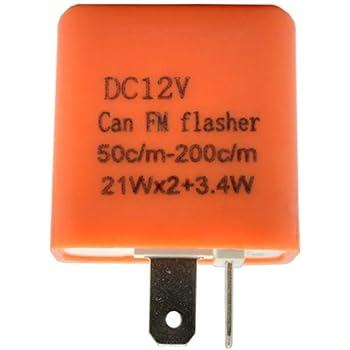 Colore: Arancione Rel/è Lampeggiante Universale Regolabile a 2 Pin per Moto indicatore di Facile Installazione Appearancnes