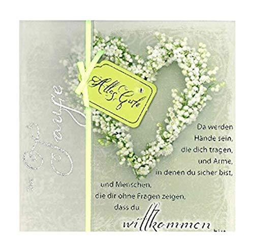 Depesche 4907.054 Glückwunschkarte Emotions in edlem Design, Taufe, Mehrfarbig