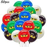 WENTS Ninja Luftballons Ninja Ballons Kindergeburtstag Deko Partydekorationen für Jungen 1. 4. 5....