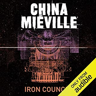 Iron Council     New Crobuzon, Book 3              By:                                                                                                                                 China Mieville                               Narrated by:                                                                                                                                 Damian Lynch                      Length: 17 hrs and 42 mins     128 ratings     Overall 3.9