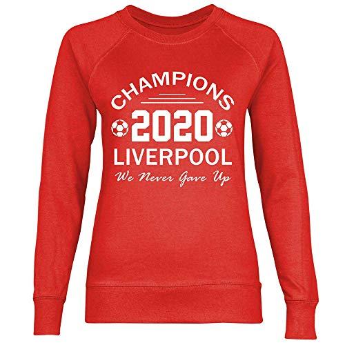 wowshirt Sudadera Jürgen Klopp Liverpool Champions 2020 para Mujer, Tamaño:XS, Color:Red