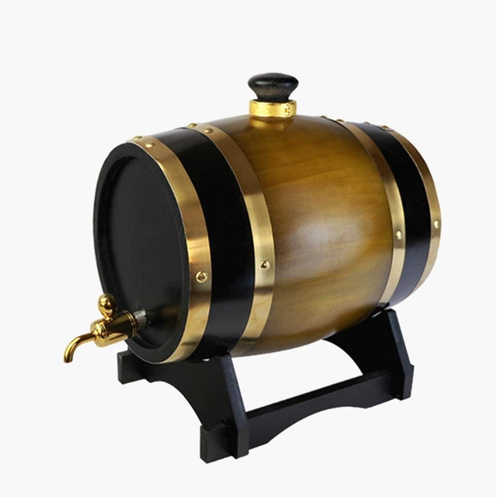 GAXQFEI Cubo de Hielo Cerveza Cooler Cooler Barril Chiller Chiller Roble Barrel 10L, Dispensador de Vino de Madera E Alenamiento Barril Cerveza Cerveza Whi Envejecimiento Barril Barra Boda Boda Otoño