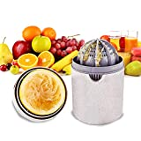 Pazezog Mini Hand Juicer, Citrus Orange Squeezer Manual Lid Rotation Press Juicing Cup for Lemon...