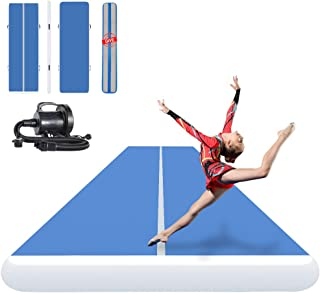 ibigbean Inflatable Gymnastics Tumbling Air Tracker Equipment Mats - for Cheerleading, Gymnastics Training, Beach, on Water(8 inch Thick)