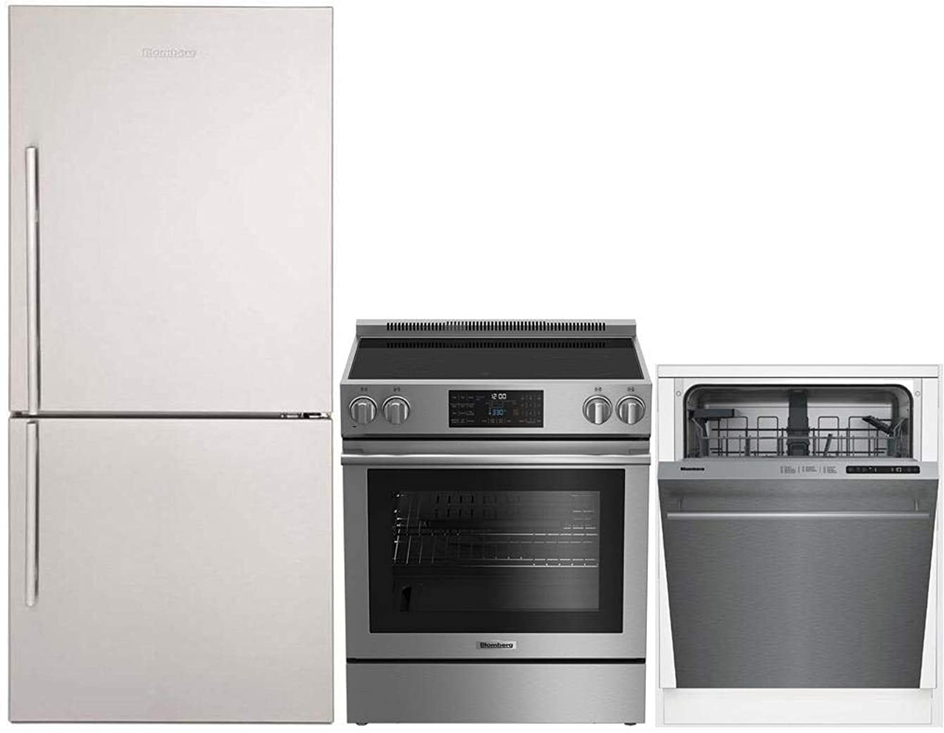 Blomberg 3-Piece Kitchen Appliances Package with BRFB1812SSN 30