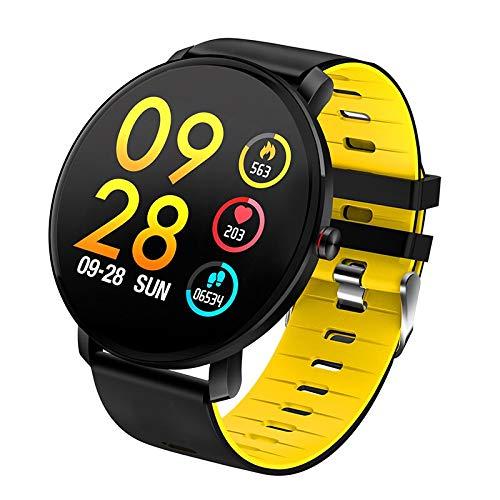 Super Slim Smart Watch Men IP68 Waterproof Sports Smartwatch Men Clock Heart Rate Monitor Fitness Bracelet Reloj inteligente K9 (Yellow)