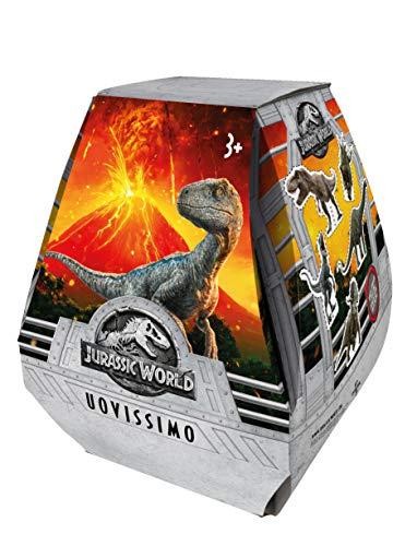 Jurassic World- Uovissimo, Uovo di Pasqua con sorprese, Multicolore, GLJ90
