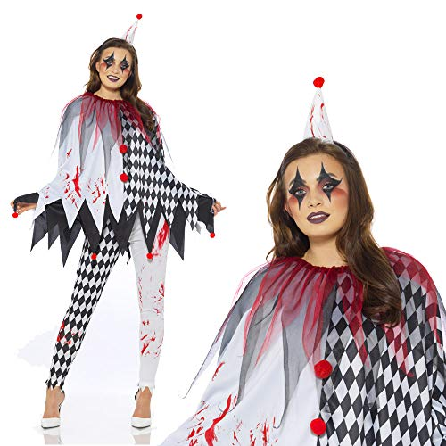 Karnival Kostuums 84200 Halloween Harlekijn Poncho Kostuum