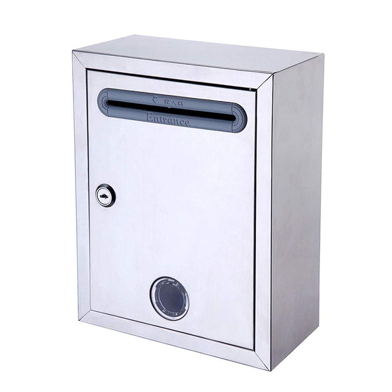 メールボックスのステンレス鋼の提案箱壁ロック付き防水ボックスレターボックス