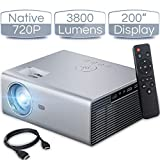 iCODIS T400 Mini Projector 3800 Lumens, 720P Native Resolution, Full HD 1080P Supported