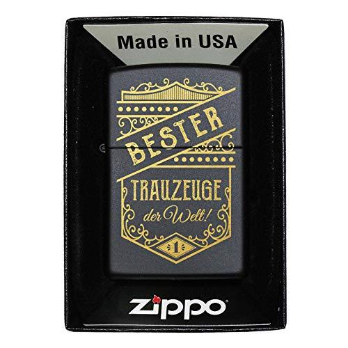 Pixelstudio, beste getuigenschap ter wereld, Zippo, aansteker met gravure, cadeau Nur Zippo (unbefüllt)