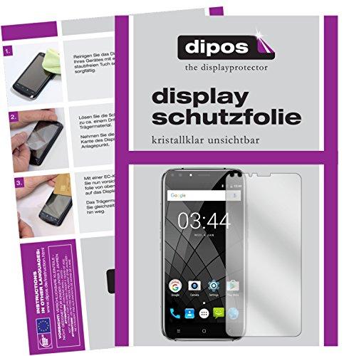 dipos I 6X Schutzfolie klar kompatibel mit Oukitel U22 (5,5 Zoll) Folie Bildschirmschutzfolie