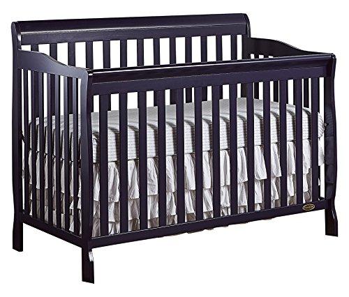 Dream On Me Ashton 5-in-1 Convertible Crib in Navy, Greenguard Gold...