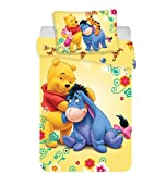 Jerry Fabrics Set di Biancheria Winnie The Pooh Disney per Bambini, in Cotone, Multicolore, Dimensioni 40...
