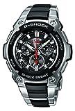 Casio G-SHOCK Funk - Reloj analógico de caballero de cuarzo con correa de acero inoxidable multicolor (alarma, solar, cronómetro, alarma) - sumergible a 200 metros