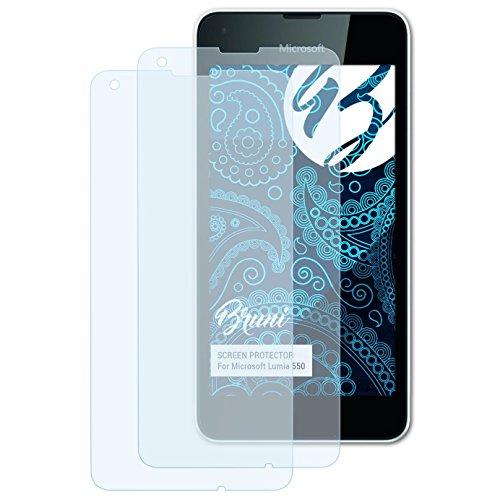 Bruni Schutzfolie kompatibel mit Microsoft Lumia 550 Folie, glasklare Bildschirmschutzfolie (2X)