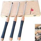 Drehwerkzeug-Drehset, Holzdrehwerkzeug Mit Holzkiste, Rundes, Quadratisches, Austauschbares Trennwerkzeug Für Holzbastler Oder Schreiner (3 Stück)