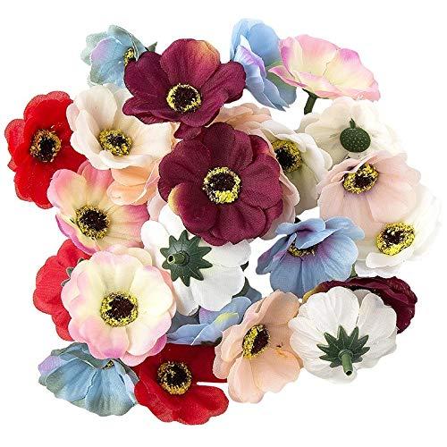 Ideen mit Herz Deko-Blüten, Kunstblumen, Blüten-Köpfe, Verschiedene Sorten, ca. Ø 4-5 cm...