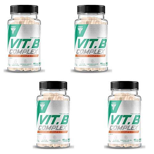 Vitamin B Complex | Include le vitamine multi B essenziali B1, B2, B6, B12 e la biotina | Aumentare l'energia | Migliora il metabolismo (240 Capsule = 4 Bottiglie)