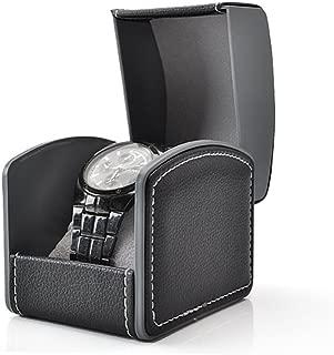 HUNGER PU Leather Single Bracelet Bangle Jewelry Watch Gift Box (Black)