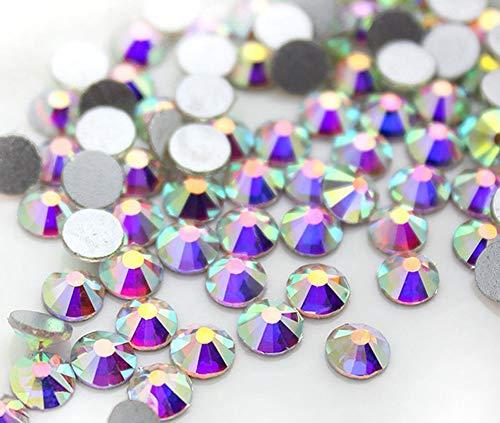 Onwon 1440 Pieces SS16 / 4mm Clear Crystal Flat Back Brilliant Round Rhinestones Glass Stones Glitter Gems Transparent Faux Diamond (Crystal AB)