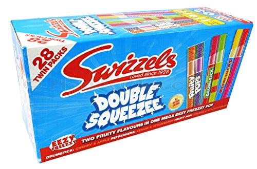 Box 28 x Swizzels Twin Freezer Ice Pops Poles Lollies Lollys Drumstick Fruity Pops & Refresher Aromen
