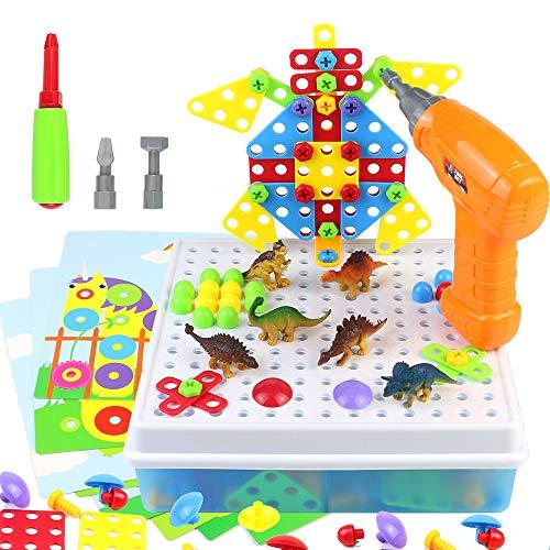 Juguetes para Niños 3 Años Dinosaurios Juegos de Mesa Construcción 223 Piezas...