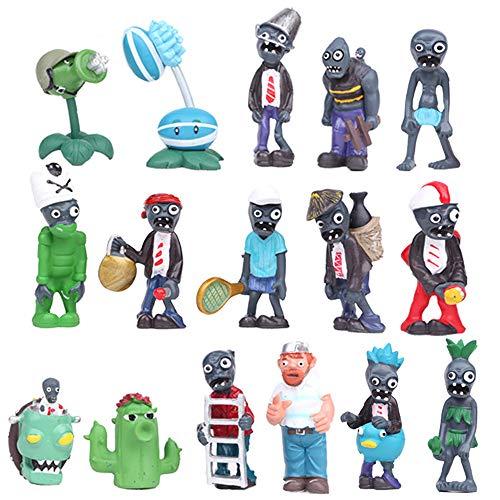 Honeytoy Plants vs Zombies Serie de Juguetes Show de Personajes Serie de Juguetes PVC Toys (B)
