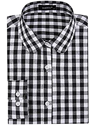 SPAREE Women's Tops Casual Blouses Long Sleeve Work Button Up Dress Shirts