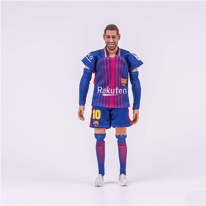 ¡envío gratis! FKYGDQ Anime Estrella de fútbol fútbol fútbol Messi Estrella Estrella muñeca Modelo Mueble Estatua Altura 30 cm Estatua de Juguete  el estilo clásico