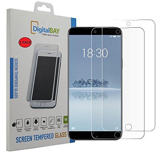 2 Pack Pellicola Vetro Temperato Meizu 15 Digital bay Protezione Antigraffi Resistente Pellicola Protettiva Protezione Protettore Glass Screen Protector per Meizu 15